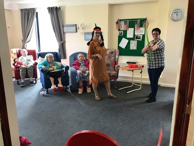 Here At New Park House We Held An American Themed Day Where The Staff Dressed As Cowboys And Indians Had Food